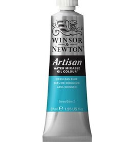 WINSOR NEWTON ARTISAN WATER MIXABLE OIL COLOUR CERULEAN BLUE 37ML