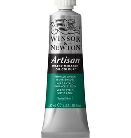 WINSOR NEWTON ARTISAN WATER MIXABLE OIL COLOUR PHTHALO GREEN  BLUE SHADE  37ML