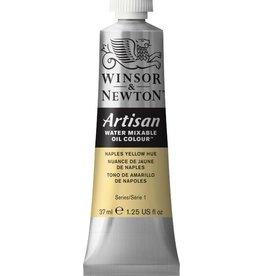 WINSOR NEWTON ARTISAN WATER MIXABLE OIL COLOUR NAPLES YELLOW HUE 37ML