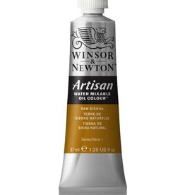 WINSOR NEWTON ARTISAN WATER MIXABLE OIL COLOUR RAW SIENNA 37ML