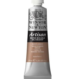 WINSOR NEWTON ARTISAN WATER MIXABLE OIL COLOUR BURNT UMBER 37ML