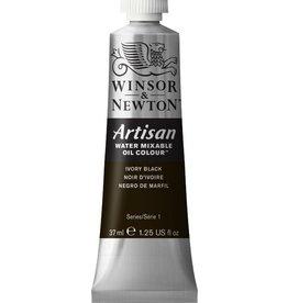 WINSOR NEWTON ARTISAN WATER MIXABLE OIL COLOUR IVORY BLACK 37ML