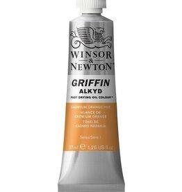WINSOR NEWTON GRIFFIN ALKYD OIL COLOUR CADMIUM ORANGE 37ML