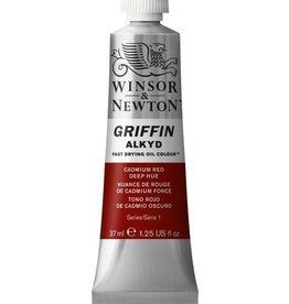 WINSOR NEWTON GRIFFIN ALKYD OIL COLOUR CADMIUM RED DEEP 37ML