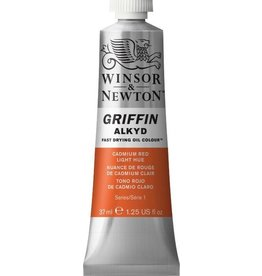 WINSOR NEWTON GRIFFIN ALKYD OIL COLOUR CADMIUM RED LIGHT 37ML