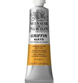 WINSOR NEWTON GRIFFIN ALKYD OIL COLOUR CADMIUM YELLOW DEEP 37ML