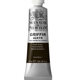 WINSOR NEWTON GRIFFIN ALKYD OIL COLOUR IVORY BLACK 37ML