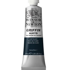 WINSOR NEWTON GRIFFIN ALKYD OIL COLOUR LAMP BLACK 37ML