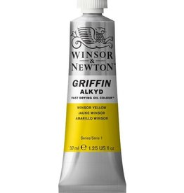 WINSOR NEWTON GRIFFIN ALKYD OIL COLOUR WINSOR YELLOW 37ML
