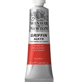 WINSOR NEWTON GRIFFIN ALKYD OIL COLOUR WINSOR RED 37ML