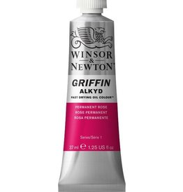 WINSOR NEWTON GRIFFIN ALKYD OIL COLOUR PERMANENT ROSE 37ML