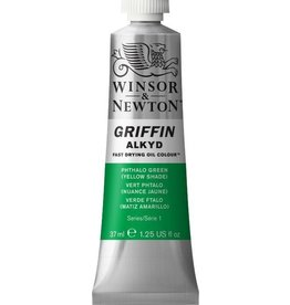 WINSOR NEWTON GRIFFIN ALKYD OIL COLOUR PHTHALO GREEN YELLOW SHADE 37ML