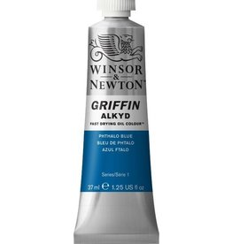 WINSOR NEWTON GRIFFIN ALKYD OIL COLOUR PHTHALO BLUE 37ML