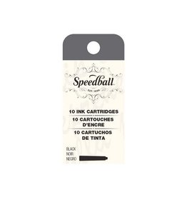 SPEEDBALL INC SPEEDBALL CALLIGRAPHY FOUNTAIN PEN INK CARTRIDGES SET-BLACK