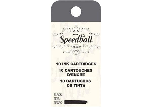 SPEEDBALL INC SPEEDBALL CALLIGRAPHY FOUNTAIN PEN INK CARTRIDGES SET-BLACK