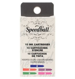 SPEEDBALL INC SPEEDBALL CALLIGRAPHY FOUNTAIN PEN INK CARTRIDGES SET-ASSORTED