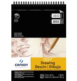 CANSON CANSON 1557 CLASSIC CREAM DRAWING PAD 9X12 90LB TOP COIL  24/SHT    100510973