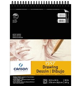 CANSON CANSON 1557 CLASSIC CREAM DRAWING PAD 11X14 90LB TOP COIL  24/SHT    100510974
