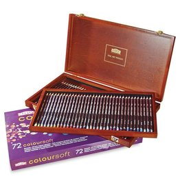 DERWENT DERWENT COLOURSOFT PENCIL WOODEN BOX SET/72