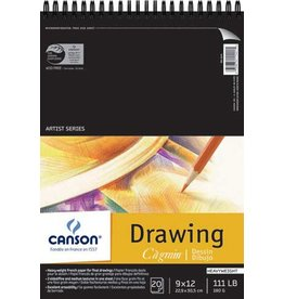 CANSON CANSON ARTIST SERIES C à GRAIN DRAWING PAD 9X12 20/SHT