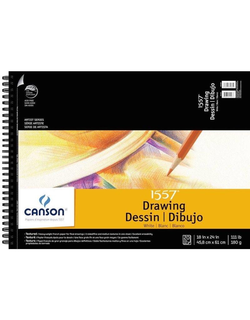 CANSON CANSON ARTIST SERIES C à GRAIN DRAWING PAD 18X24 SIDE COIL 20/SHT