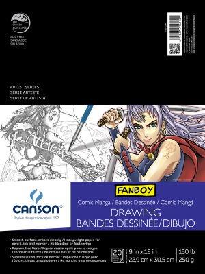 CANSON CANSON COMIC/MANGA ILLUSTRATION PAD 9X12 150LB 20/SHT