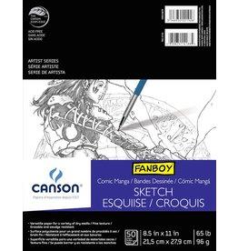 CANSON CANSON COMIC/MANGA SKETCH PAPER 8.5X11 65LB 50/SHT