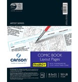 CANSON CANSON COMIC BOOK LAYOUT PAGES 8.5X11 50LB  35/SHT    CAN-100510877