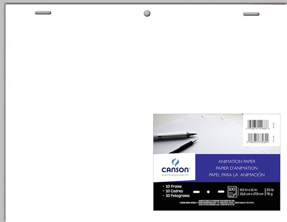 CANSON CANSON ANIMATION PAPER ACME HOLE PUNCHED 8.5X11 20LB 100/PK