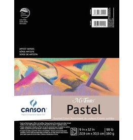CANSON MI-TEINTES PASTEL PAD 9X12 ASSORTED 98LB  24/SHT     CAN-100510864