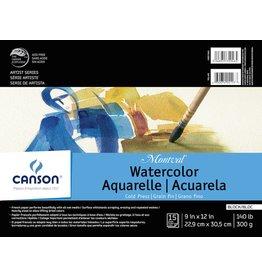 CANSON CANSON MONTVAL WATERCOLOUR BLOCK 140LB CP 9X12 15/SHT    CAN-100511063