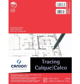 CANSON CANSON FOUNDATION TRACING PAD 9X12 25LB  50/SHT    CAN-100510960