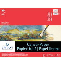 CANSON CANSON FOUNDATION CANVA-PAPER PAD 16X20 136LB  10/SHT    CAN-100510843