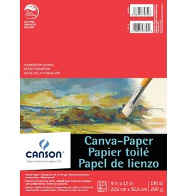 CANSON CANSON FOUNDATION CANVA-PAPER PAD 9X12 136LB  10/SHT    CAN-100510841