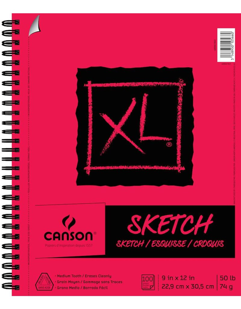 CANSON CANSON XL SKETCH PAD 9X12 SC  100/SHT    CAN-400061860