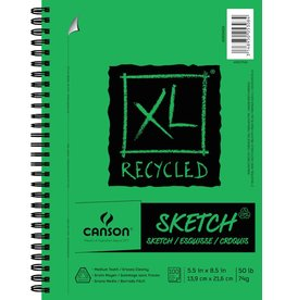 CANSON CANSON XL RECYCLED SKETCH PAD 9X12 50LB SIDE COIL  100/SHT    CAN-400026826