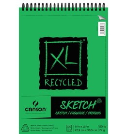 CANSON CANSON XL RECYCLED SKETCH PAD 9X12 50LB TOP COIL 100/SHT    CAN-400026747