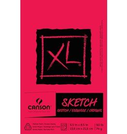 CANSON CANSON XL SKETCH PAD 5.5X8.5 50LB TAPE BOUND  100/SHT    CAN-100510938