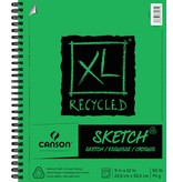 CANSON CANSON XL RECYCLED SKETCH PAD 9X12 50LB SIDE COIL 100/SHT    CAN-100510922