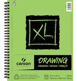 CANSON CANSON XL DRAWING PAD 9X12 70LB SIDE COIL  60/SHT    CAN-400054491