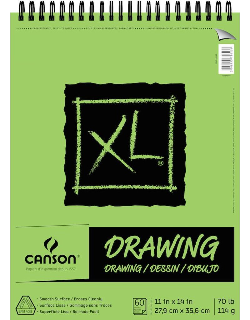 CANSON CANSON XL DRAWING PAD 11X14 70LB TOP COIL  60/SHT    CAN-100510937