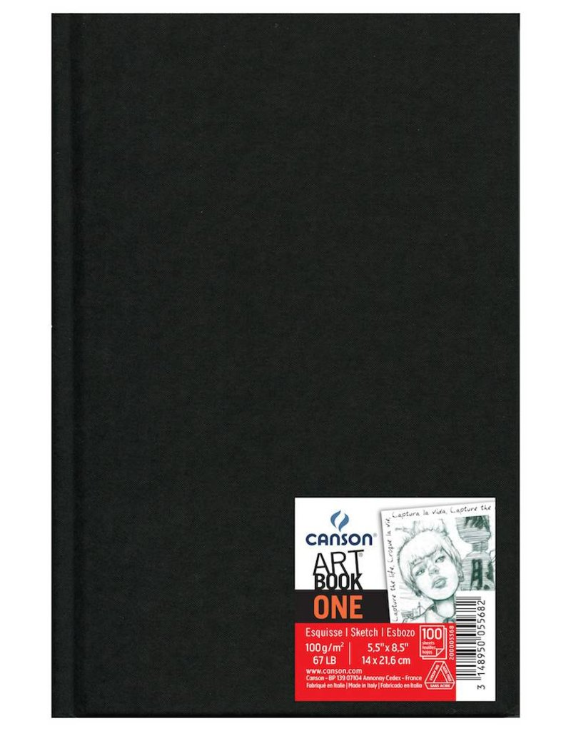 CANSON CANSON ART BOOK ONE 5.5X8.5 67LB HARDBOUND  100/SHT    CAN-200005568