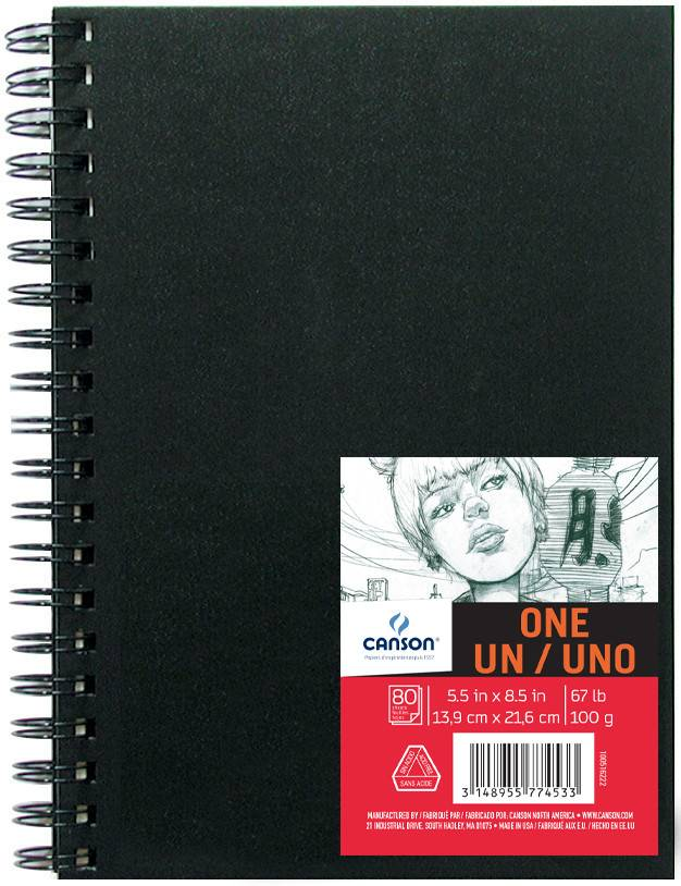 CANSON CANSON ART BOOK ONE 5.5X8.5 67LB SIDE COIL  80/SHT    CAN-100516222