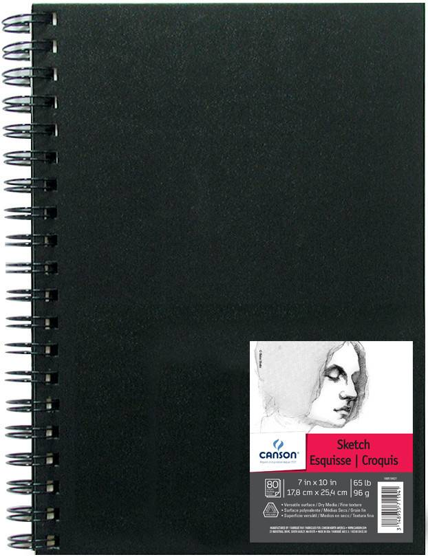 CANSON CANSON ARTIST SERIES SKETCH BOOK 7X10 65LB SIDE COIL  80/SHT    CAN-100510427