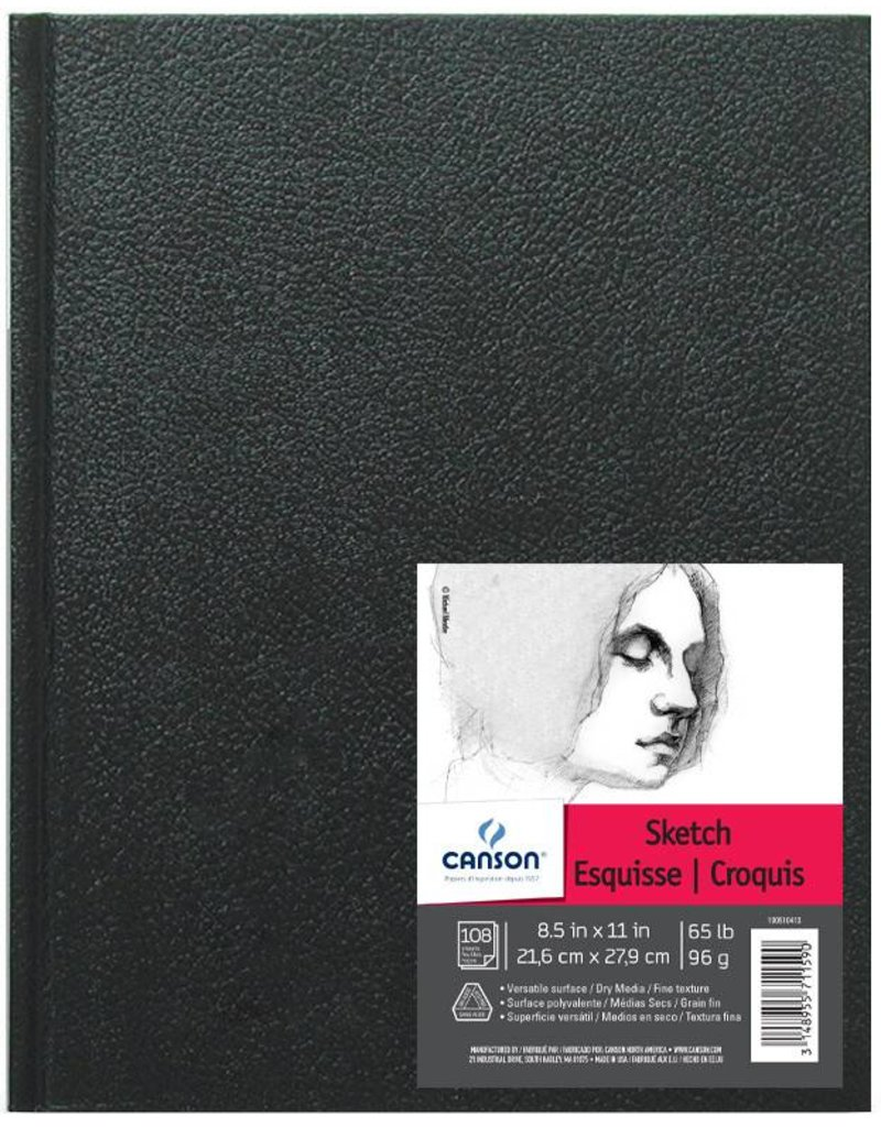 CANSON CANSON ARTIST SERIES SKETCH BOOK 8.5X11 65LB HARDBOUND  108/SHT    CAN-100510413