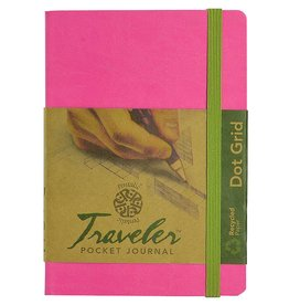 PENTALIC PENTALIC TRAVELER POCKET JOURNAL DOT GRID 6X4 BRIGHT PINK    PTL-016132-BPK