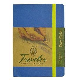 PENTALIC PENTALIC TRAVELER POCKET JOURNAL DOT GRID 6X4 DENIM BLUE    PTL-016132-DBL