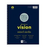STRATHMORE STRATHMORE VISION MIXED MEDIA PAD 11X14 98LB SIDE COIL  70/SHT    STR-662-59