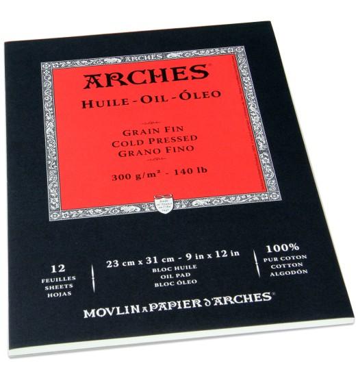ARCHES ARCHES OIL PAPER PAD 9X12 140LB  12/SHT    1795108
