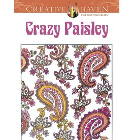 DOVER PUBLICATIONS CREATIVE HAVEN CRAZY PAISLEY COLOURING BOOK